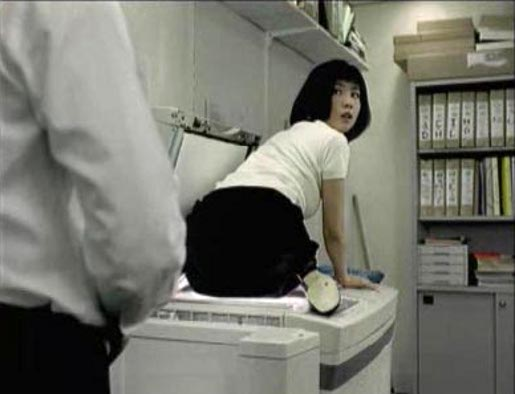 Japanese woman in Mikado Photocopier TV commercial