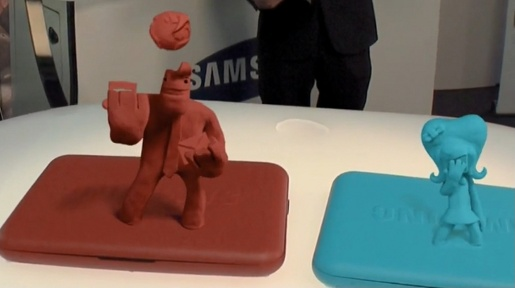 Samsung Claymation Holographs