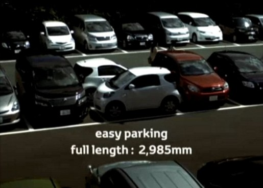 Toyota IQ parking