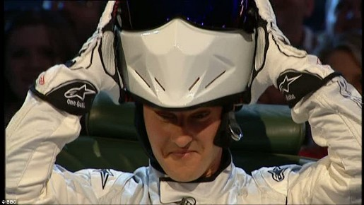 Schumacher as The Stig on Top Gear