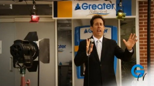 Jerry Seinfeld in Greater Building Society commercial