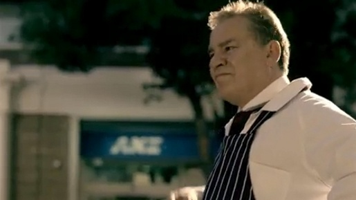 Butcher in ANZ Chase commercial