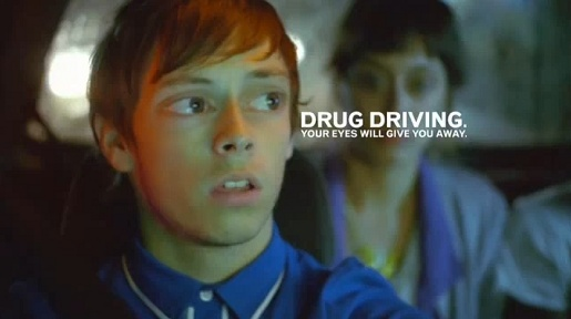 Drug Driving Eyes in Think advertisement