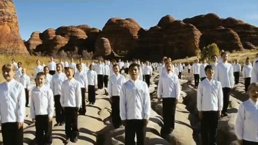 Choirs sing in Qantas I Still Call Australia Home commercial 2009