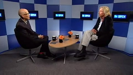 Seth Godin interviews Richard Branson in Open Forum