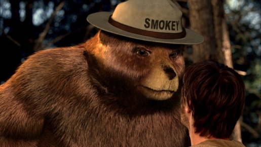 Smokey Bear in Wildfire commercial