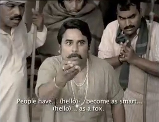 Crowd man in Tata Indicom Hello ad