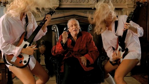 Hugh Hefner in Guitar Hero commercial
