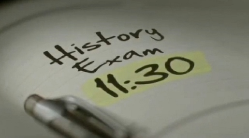 History Exam 11.30 note in Coca Cola History Finals commercial