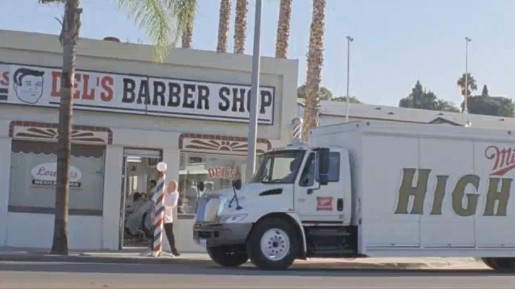 Miller Truck and Del's Barber Shop