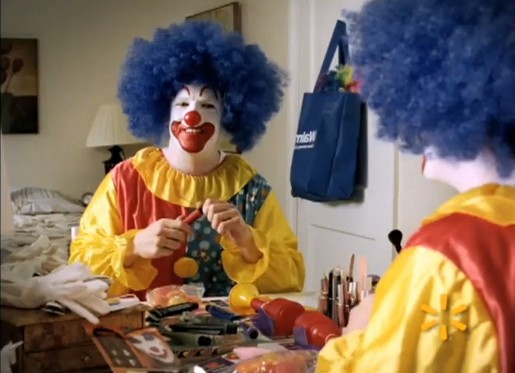 Image of: Super Bowl Walmart Clown The Inspiration Room Walmart Clown Commercial The Inspiration Room