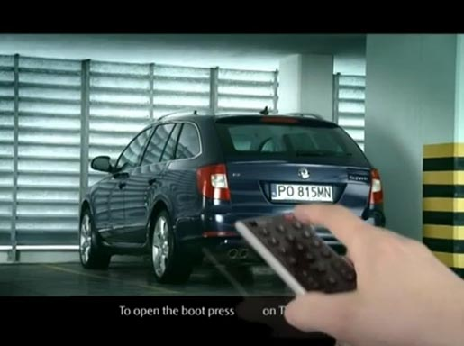 Skoda Superb Boot Remote TV ad