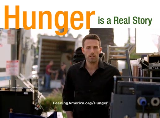 Ben Affleck in Feeding America commercial