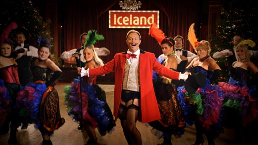 Jason Donovan in Iceland commercial
