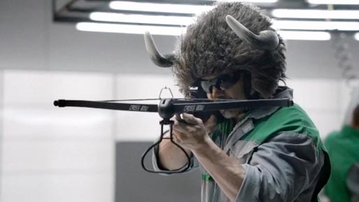 Skoda Mean Green commercial with crossbow