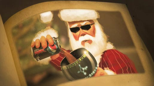 Santa pours Pepsi Max in Snoop Dogg Christmas Story
