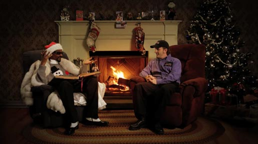 Snoop Dogg and Richard Speight Jr in Christmas Story