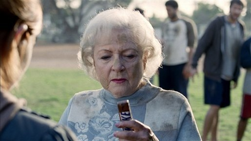 Betty White in Snickers ad