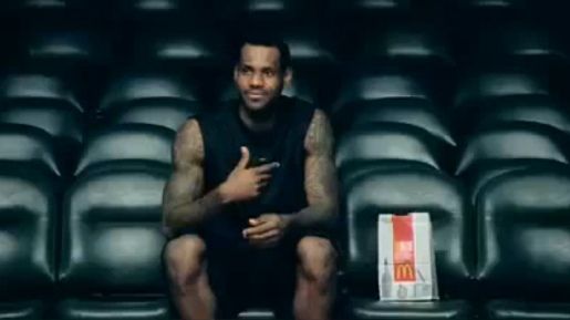 LeBron James in McDonalds Check This commercial