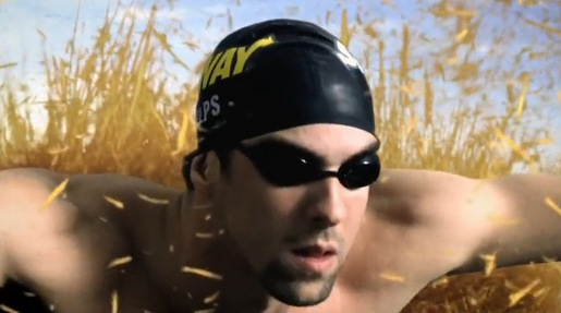 Michael Phelps Landswimming