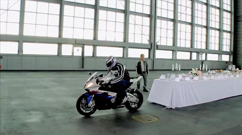 BMW Table Cloth stunt