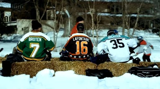 Broten LaFontaine and Richter in Honda NFL commercial