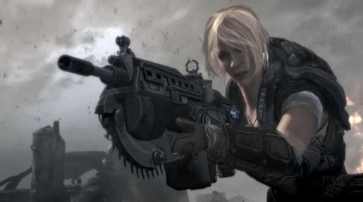 Gears of War Ashes to Ashes female soldier