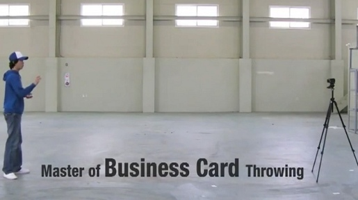 Samsung Business Card Thrower