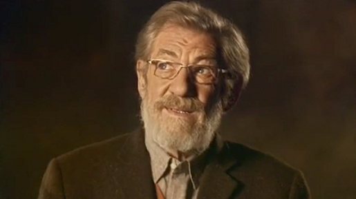 Ian McKellen in Age UK ad