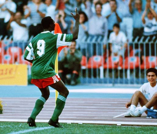 Roger Milla dance in Coca Cola Longest Celebration