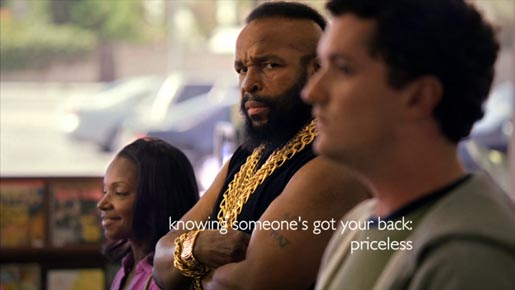 Mr T in Mastercard Bodyguard commercial