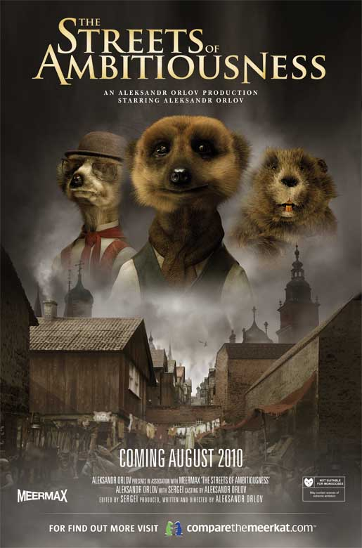 Compare the Meerkats Streets of Ambitiousness Poster