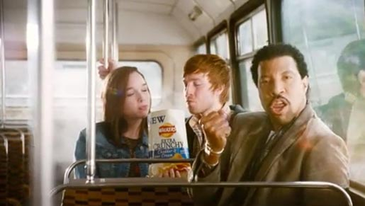 Lionel Richie in Walkers Crisps commercial