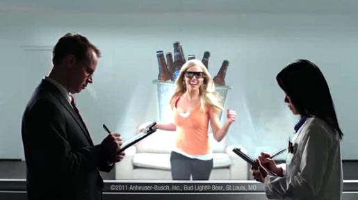 Bud Light 3D Test commercial