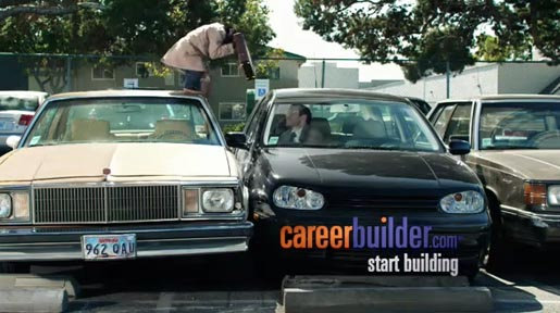 Careerbuilder.com Parking Lot commercial