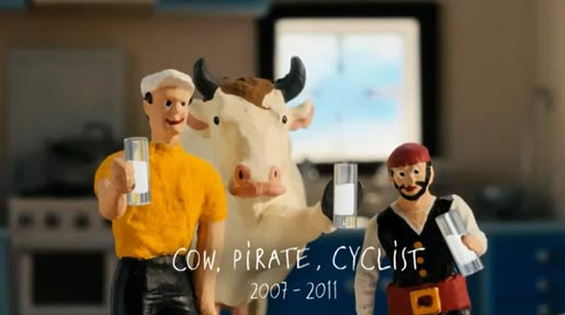 Cravendale Cow Pirate and Cyclist