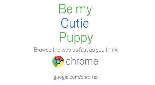 Google Chrome Valentines Day commercial