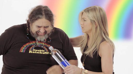 Jennifer Aniston and Double Rainbow man