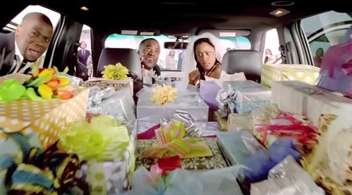 Kevin Hart Ford Explorer wedding commercial