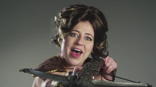 Kristen Schaal Crossbow in Sony Ericsson commercial