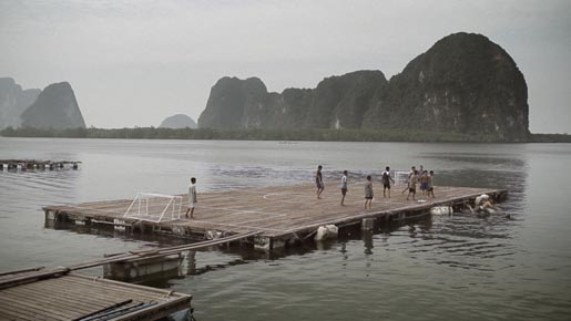 Panyee Football team plays on wharf