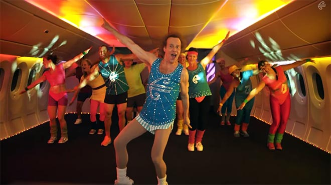 Air New Zealand safety with Richard Simmons