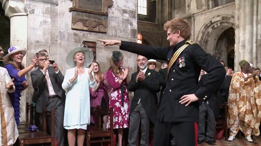 Prince Harry in T-Mobile Royal Wedding Entrance Dance