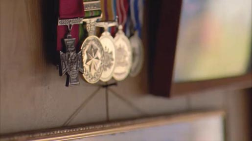 Mark Donaldson VC medals in Raise A Glass commercial