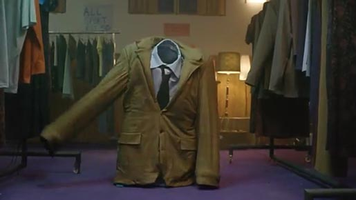 Jacket dances in Cadbury Charity Shop commercial