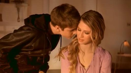 Justin Bieber and Dree Hemingway in Someday Commercial