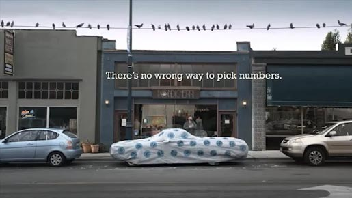 Washington Lottery Tarp commercial