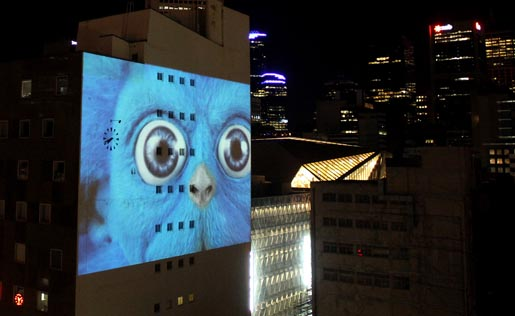 Vodafone Demon Projection