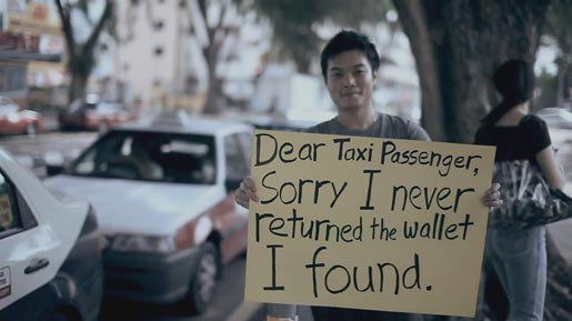 Dear Taxi Passenger Apology in Dear Malaysians campaign