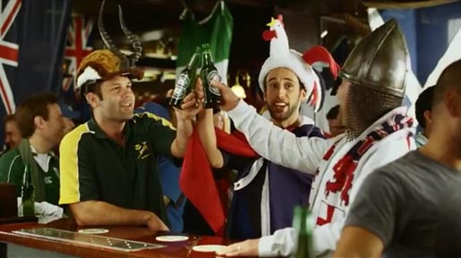 Heineken Rugby World Cup supporters